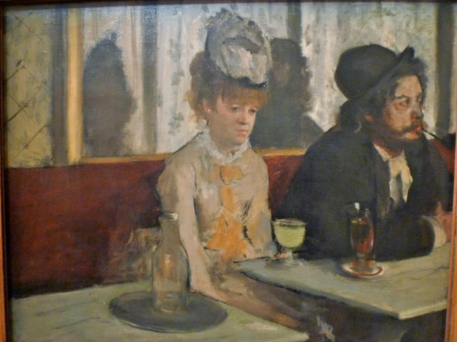 In a cafe (The Absinthe drinker) 1875-76