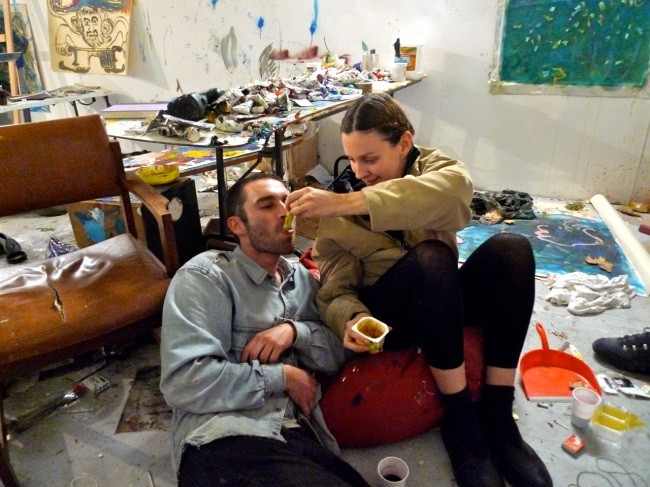 Spoon feeding the artist
