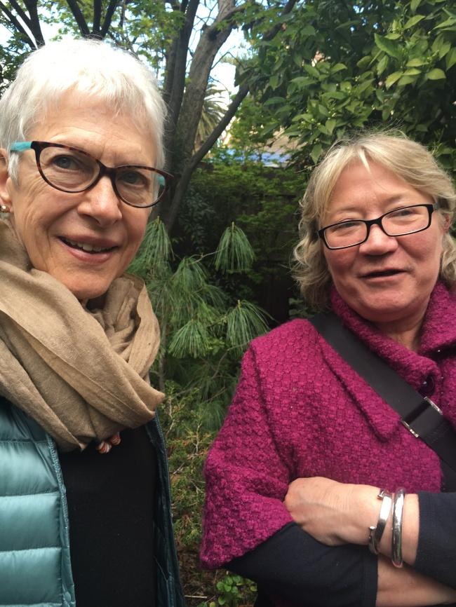 Joan Grounds with Lisa Kerrigan