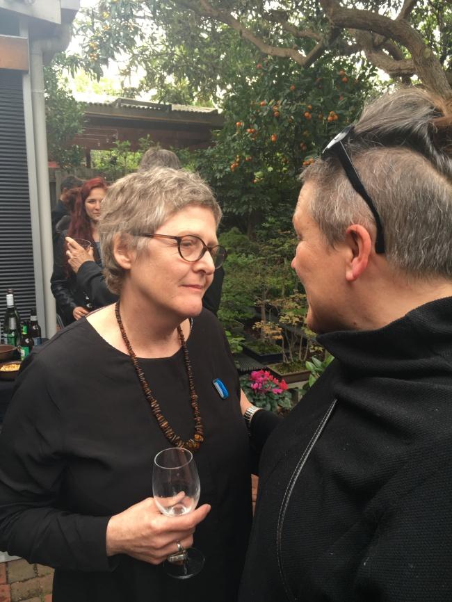 Julie Davies with Elvis Richardson