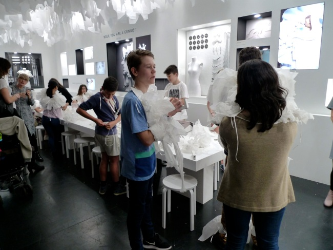 In the kids gallery, you can make a wedding dress out of paper
