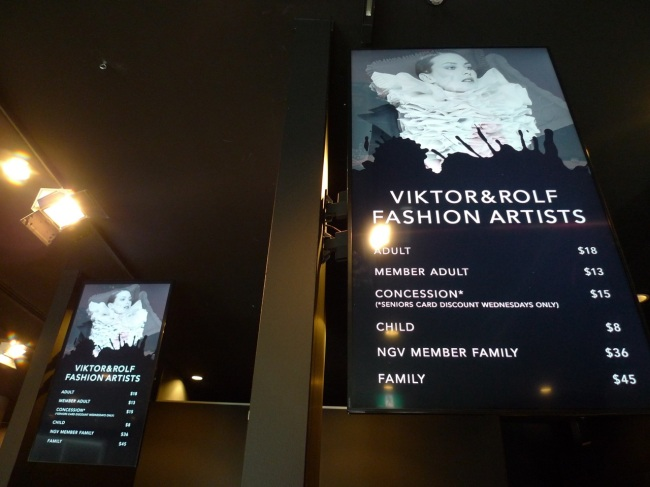 What it costs to visit the fashion art
