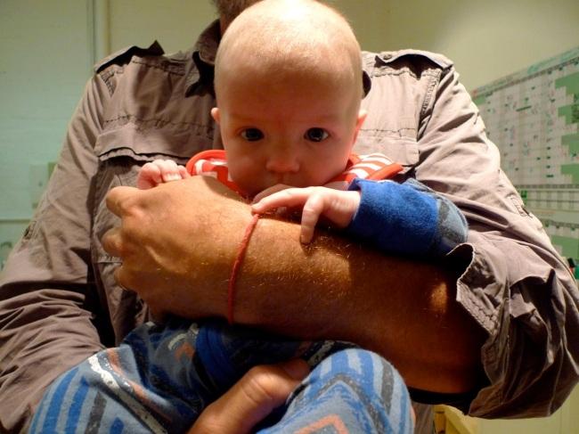Ben and Ali's baby Wolfie