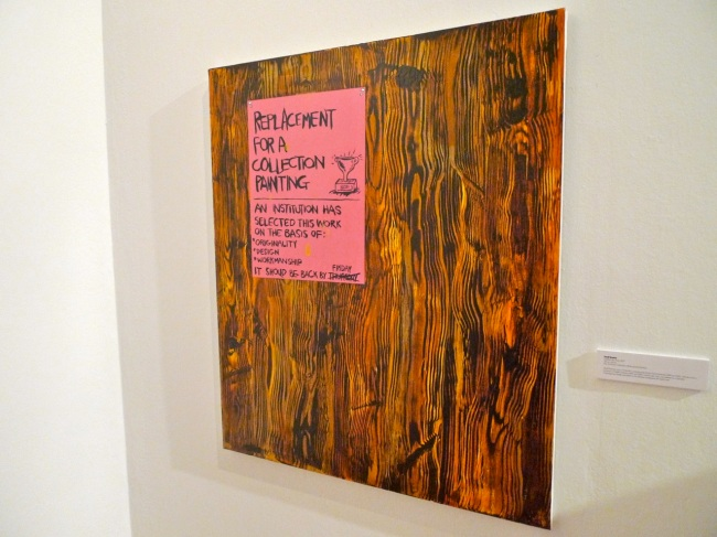 Geoff Newton, Untitled (for Jon) was painted and gifted to Jon Broome as payment for studio rent