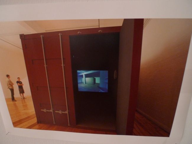 Stephen Honegger and Anthony Hunt, print from original installation Gertrude 2002, Container and In-game video capture