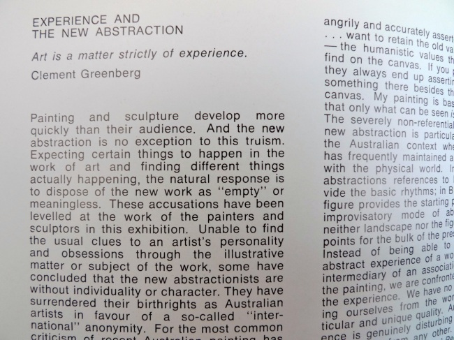 Clement Greenberg quote