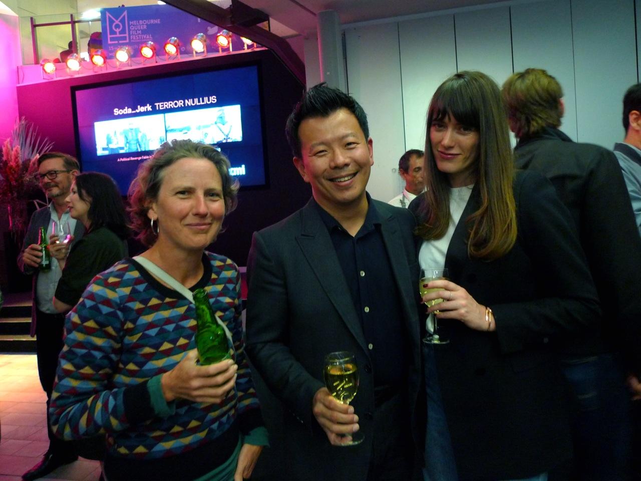Kylie Wilkinson, Terry Wu and Genevieve Brannigan