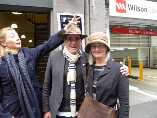 Neil Hobbs and Karina Harris and the photo-bomber