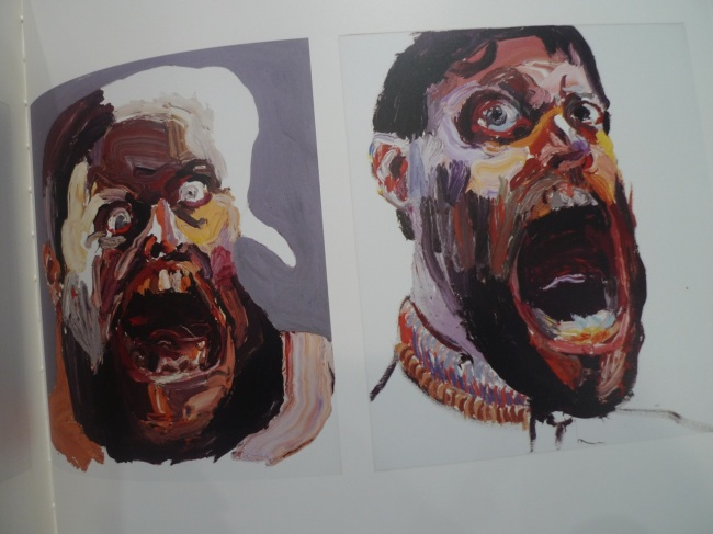Self-portrait (monster), 2013; Self-portrait (big mouth), 2013
