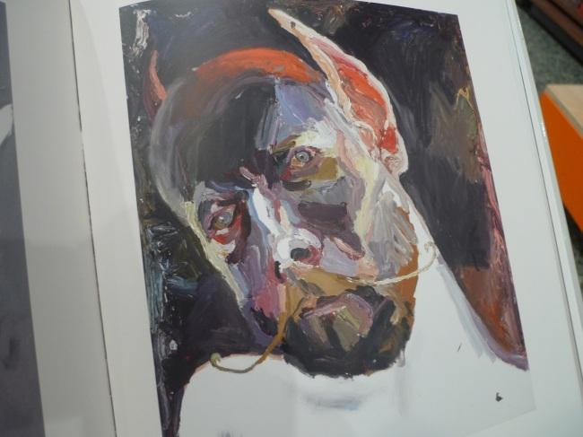Self-portrait, moustache, 2104